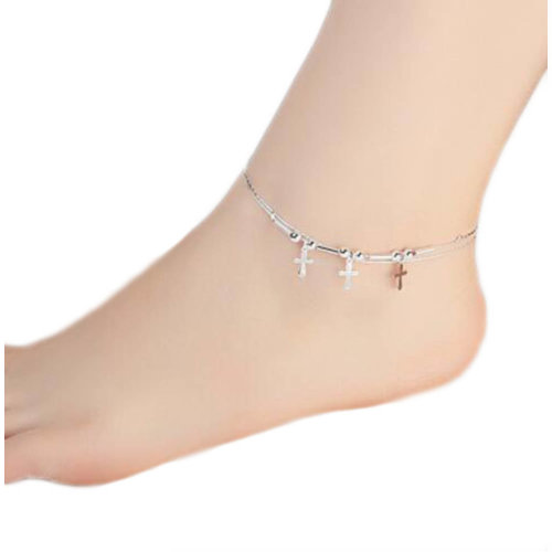 Sterling Silver Beautiful Anklet Ornaments Decor For Woman-A17
