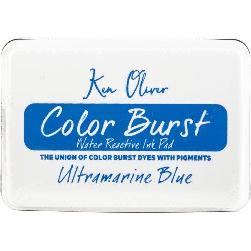 """Ken Oliver Color Burst 3.75""""X2.5"""" Stamp Pad-Ultramarine Blue"""