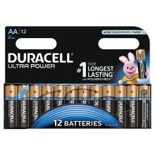12 x Duracell Ultra Power Type AA Alkaline Batteries Power Check