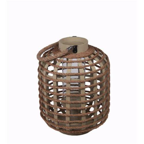 Privilege 88068 Wooden Lantern, Brown - Small