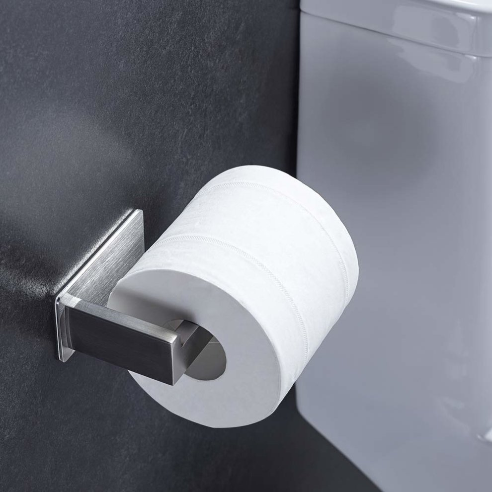 Toilet Paper Holder Stainless Steel Wall Moun Self Adhesive Toilet