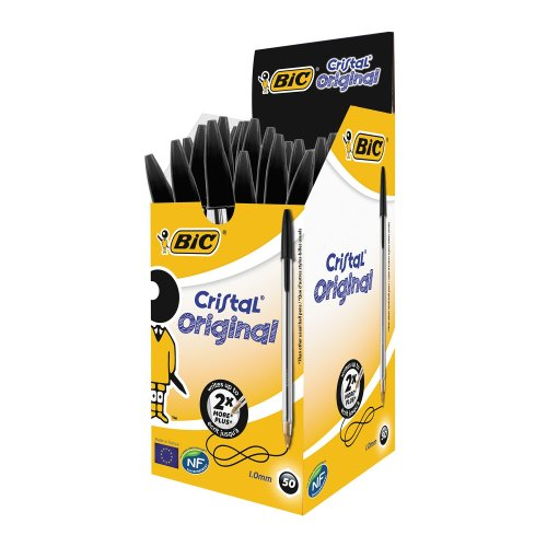 Bic Cristal Medium Black Pens (pack of 50)