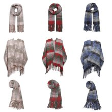 Miss Lulu Women's Check Print Shawl | Soft Blanket Scarf