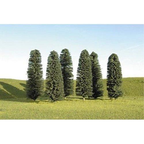 "Bachmann Industries Scene Scapes Trees 4""- 6"" Cedar Trees HO Scale Train (24 Piece)"