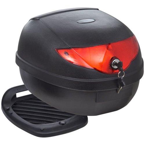 vidaXL Motorbike Top Case 36 L for Single Helmet Motorcycle Bag Back Luggage