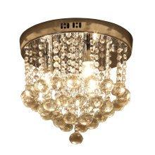 HOMCOM Crystal Chandelier Lamp with Fixtures, Ф30 cm