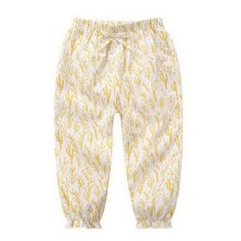 Comfortable Soft Children's Trousers, White Bottom And Yellow Grass