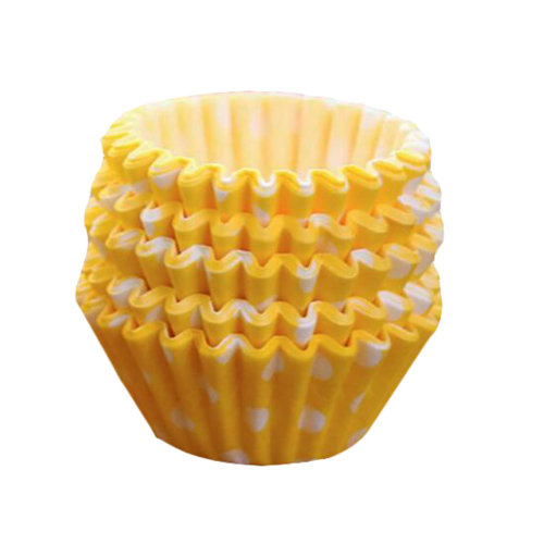 Baking Cups For Cupcakes Mini Cupcake Wrapper Maffin Cup 100 Pcs Yellow