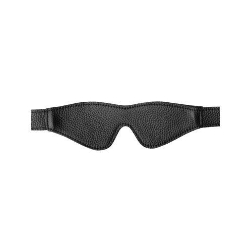 Onyx Leather Blindfold  BDSM Masks - GreyGasms