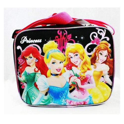 Lunch Bag - Disney - 4 Princess Rose Bag Black School Bag New A05372