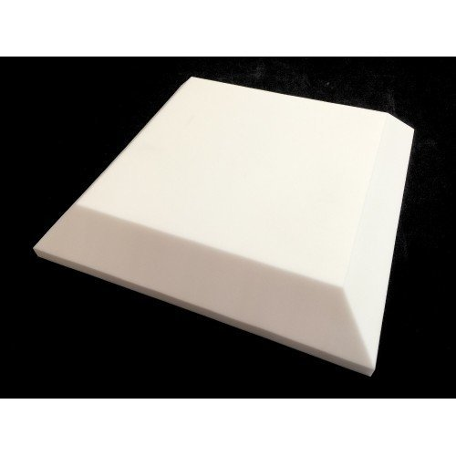 Mel-Acoustic Tegular 100mm White Melamine Acoustic Foam Panel 600x600