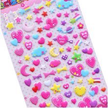5 Sheets Funny Cartoon Stickers Children Decorative Toys[A]