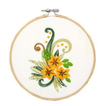 DIY Flower Embroidery Kits Special Holiday Gifts Nice Home Ornaments