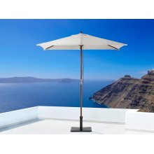 Garden Parasol - Patio Umbrella - Wooden - 144 x 195 cm -  - FLAMENCO