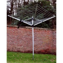 Kingfisher Super Lightweight Rotary Line Airer, Silver, 50 m
