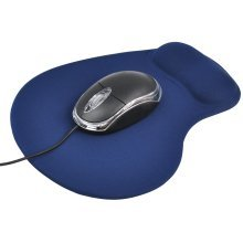 TRIXES Comfort Mouse Pad with Wrist Support in Dark Blue