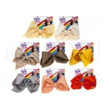 8 Assorted Fashion Hair Bows -  721038 large big hair bows boutique knot girls alligator clip pin flower ribbon
