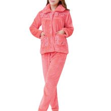 Casual Pajama Set Warm Sleepwear Home Apparel Flannel Pajamas X-large-A10