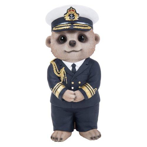 00b5c57a2 Vivid Arts - Baby Meerkat - Navy Captain - Garden Ornament/Decoration/Gift  on OnBuy
