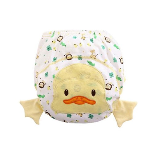 2 PCS Cotton Material Baby Diapers with Cartoon Pattern, 22.5x42cm