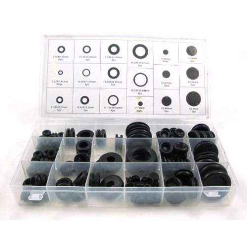Toolzone 125pc Rubber Grommets