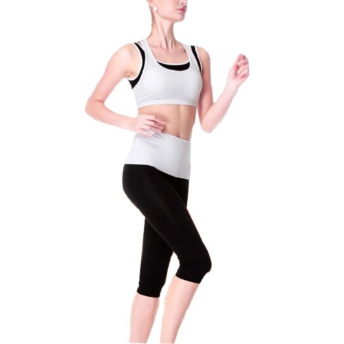 Women's No-Bounce Shock Running/ Yoga clothes Sports apparel (White,36C)
