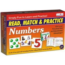 Pre-school Read, Match And Practice Numbers Game - Read Cre1044 Creative -  read cre1044 creative preschool match numbers