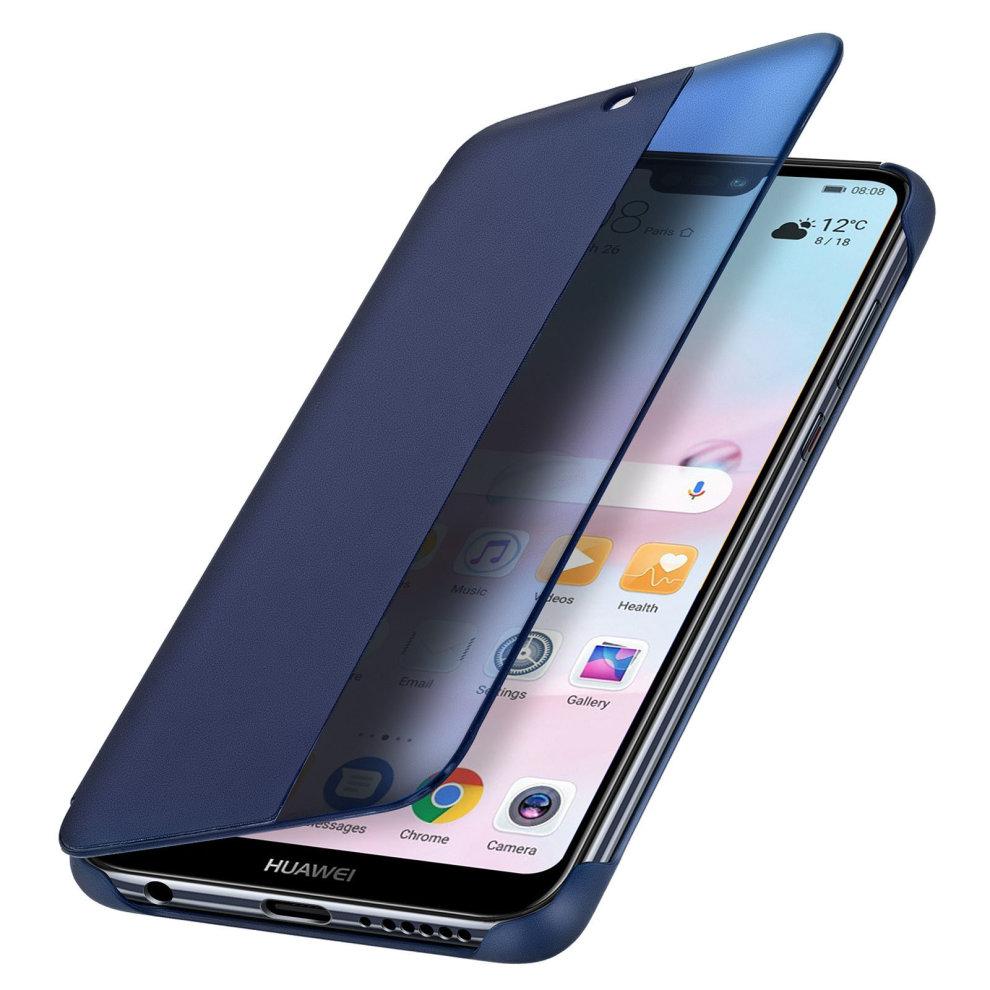 cheaper c1d8a 7ad52 Official Huawei Smart View flip case for Huawei P20 Lite - Dark blue