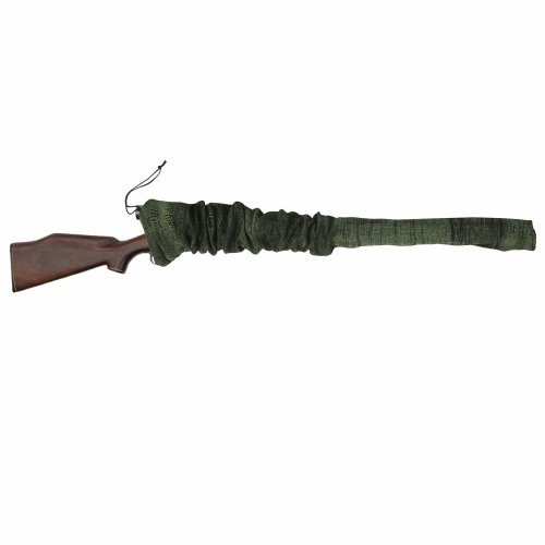 TOURBON Silicone Oil Treated Knit Fabric Shotgun Rifle Storage Gun Protective Sock Sack 132cm - Green