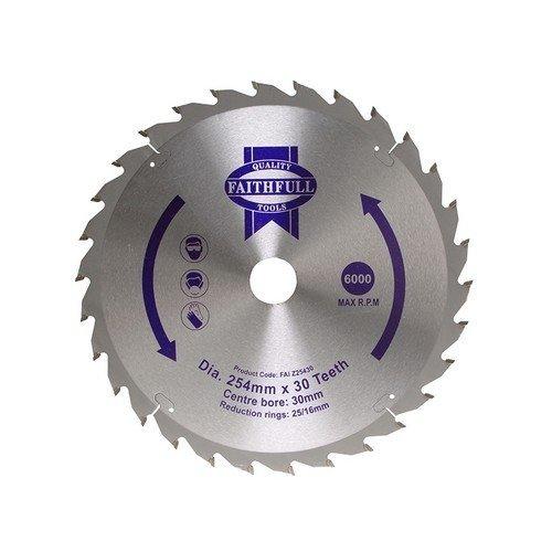 Faithfull FAIZ25024 Circular Saw Blade 250 x 16/25/30mm x 24T Fast Rip