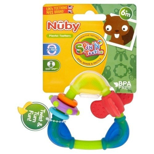 Nuby Spin n Teethe Teether 6m+