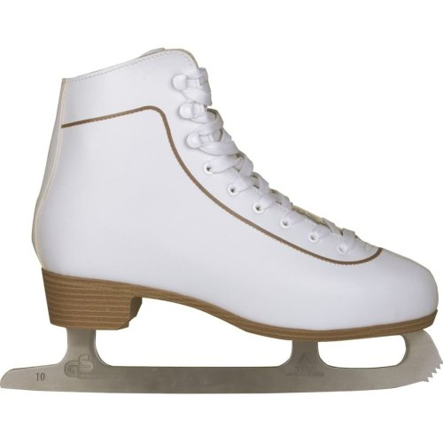 Nijdam Women's Figure Skates Classic Leather Size 40 0043-WIT-40