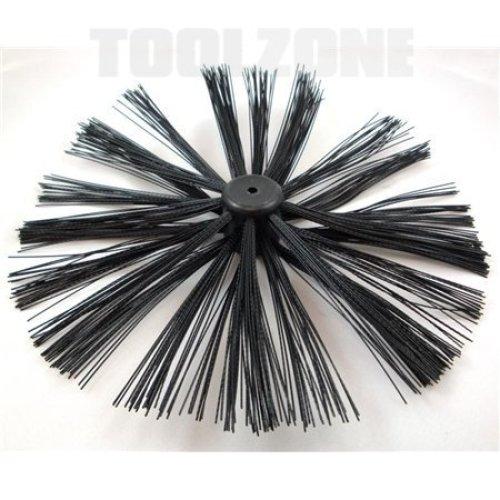 Toolzone 400mm Chimney Brush - Sweep Sweeping Drain Rods Flue Cleaning -  400mm chimney brush sweep sweeping drain rods flue cleaning toolzone
