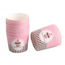 100 PCS Lovely Baking Paper Cups Cake Cup, Creative Cupcakes Mould Cup Cupcakes Cases #02
