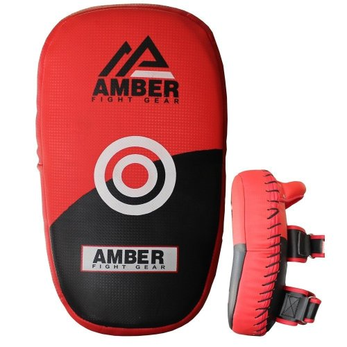 Amber Fight Gear Muay Thai Kickboxing Pads Punch Shields Curved Pads