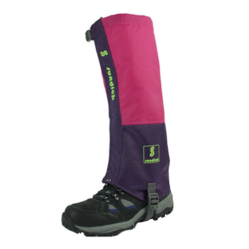 Sports Foot Strap Waterproof Ski Boot Gaiters Leg Binding,1 Pair,Rose/Purple