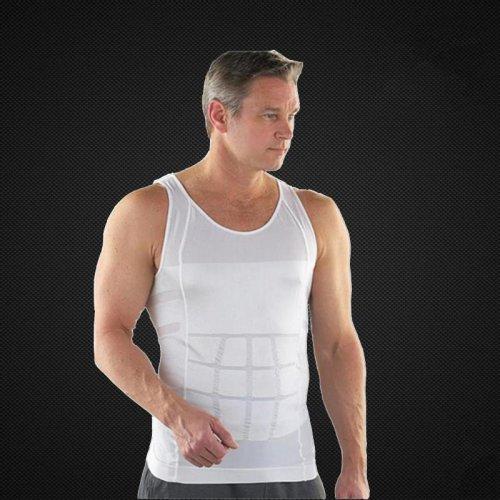 New 2015 Men corset Body Slimming Tummy Shaper Vest Belly Waist Girdle Shirt Shapewear Underwear A3091