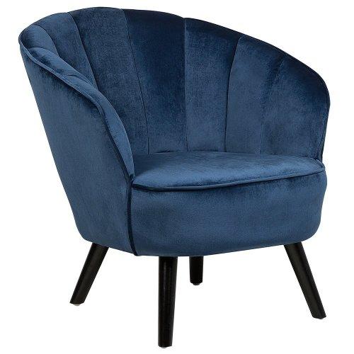 Velvet Armchair Dark Blue DALA