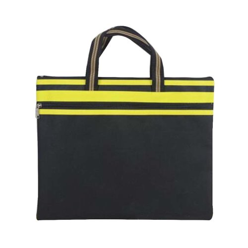 Portable Document Bag Canvas Information Bag Creative Student School Bag [H]