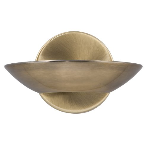 LED Uplight Wall Bracket Antique Brass Frosted Glass