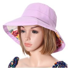Women Summer Foldable Waterpoof Sunscreen Cap Double-side Outdoor Beach Sun Protective Visor Hat