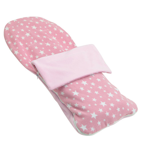 Snuggle Summer Footmuff Compatible With Chicco Twin Together - Light Pink Star