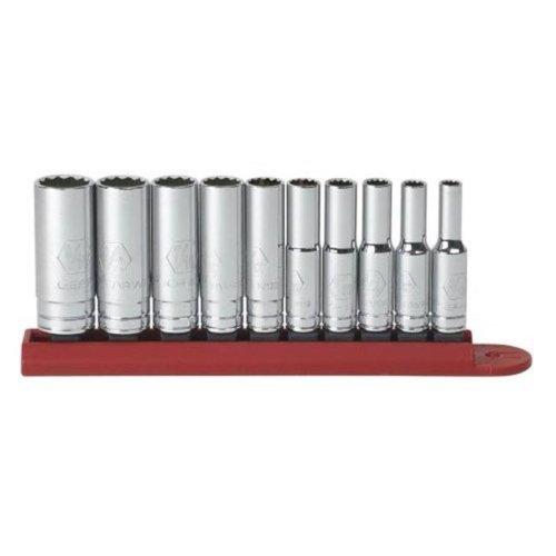 KD Tools KDT80309 10 Piece 0.25 Drive 12 Point Deep Sae Socket Set