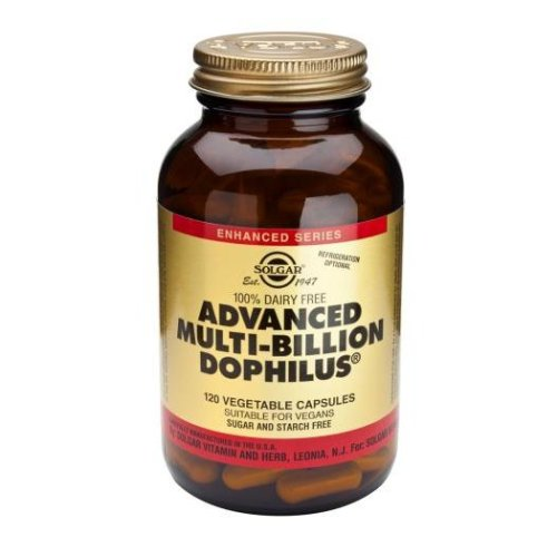 Solgar Advanced Multi-Billion Dophilus (Non-Dairy) Vegetable Capsules, 120