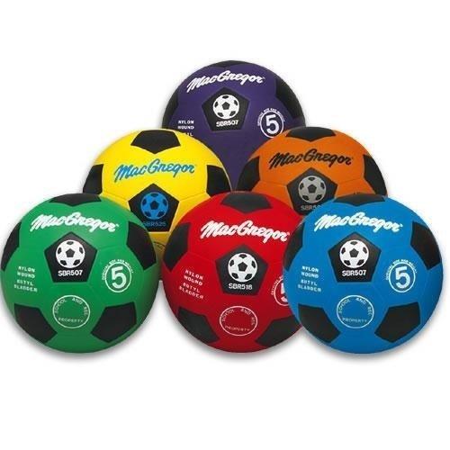 MacGregor Rubber Soccer Ball Blue
