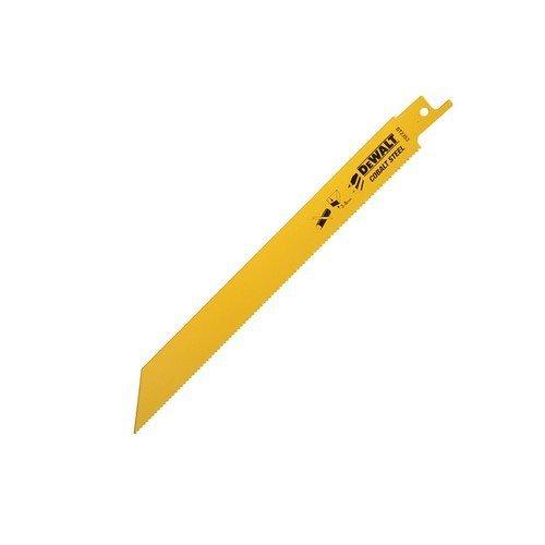 DeWalt DT2353-QZ Bi Metal Sabre Blade Fast Cut in Metal and Sheet Metal 203mm Pack of 5