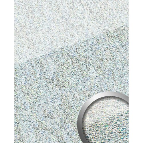 WallFace 16990 COCKTAIL Wall panel self-adhesive Glass look silver white 2.6 sqm