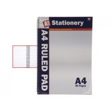 80 Sheet 2 Side Ruled Vertical Note Book With Vertical Spirals - A4 Ruled Pad Spiral Binding Note Pad Writing Paper Home Office School Stationary