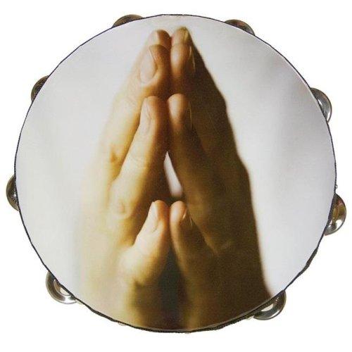10 in. Zebra Tambourine Praying Hands