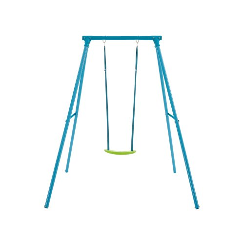 TP Toys Single Metal Swing Set Blue With 1 Adjustable Lime Green Seat Ages 3 - 12 years